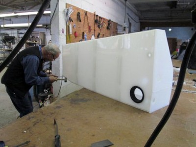 image of Tank being custom fabricated